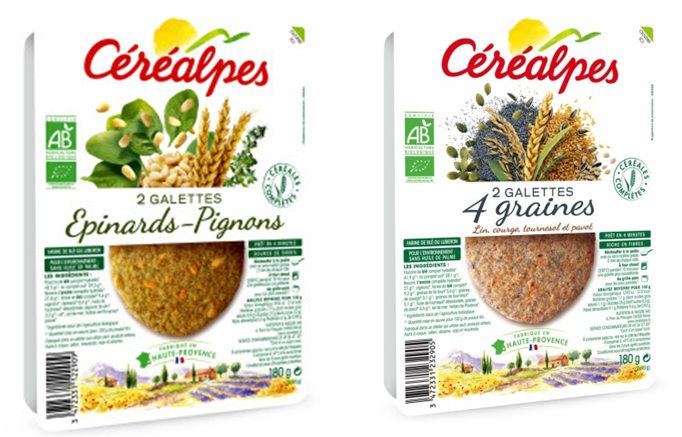 Même tendance du côté de la marque Céréalpes. En effet, avec sa gamme de  galettes la marque associe légumes et graines (lin, courge, pignons de pin… c3fff96b2aa